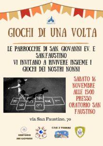 Giochi di una volta @ Oratorio san Faustino Brescia