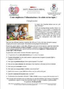 Come migliorare l'alimentazione e la salute di tuo figlio? @ biblioteca di Ospitaletto