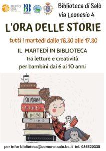 L'ora delle storie, letture alla biblioteca di Salò @ Biblioteca Salò | Salò | Lombardia | Italia