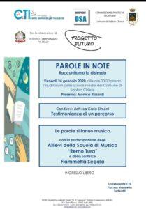 Parole in note @ auditorium scuole Sabbio Chiese | Gavardo | Lombardia | Italia