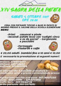 Sagra della patata a Monno @ Monno