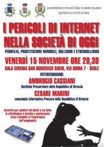 I pericoli di internet nella società di oggi @ Sala cinema San Domenico Savio