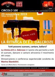 Conferenza gratuita: La ritmica di E. J. Dalcroze @ Circolo lavoratori   Brescia   Lombardia   Italia