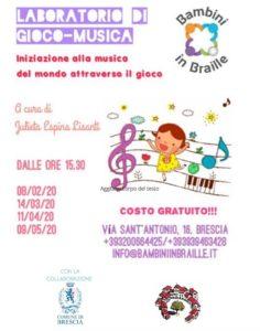Laboratorio di Gioco-Musica @ Sede Bambini in Braille