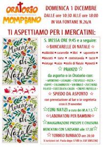 Mercatini di Natale all'oratorio Mompiano @ oratorio di Mompiano