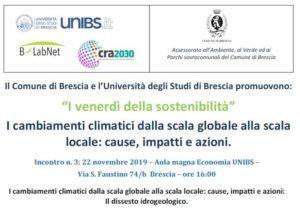 I venerdì della sostenibilità @ Aula magna Economia UNIBS