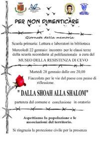 Giornata della memoria ad Artogne @ ritrovo comune di Artogne | Artogne | Lombardia | Italia