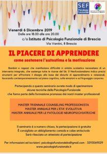 Per il piacere di apprendere @ Istituto di Psicologia Funzionale di Brescia
