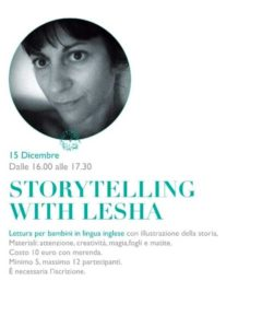 Storytellingh with Lesha @ Asteriscolibreriabistrot