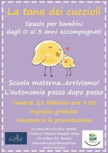 Incontri alla Tana dei Cuccioli @ Istituto Razzetti