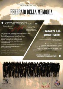 Febbraio della memoria a Corte Franca @ Corte Franca | Colombaro | Lombardia | Italia