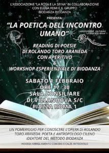 La poetica dell'incontro umano a Villanuova @ Sala consiliare Villanuova sul Clisi | Villanuova Sul Clisi | Lombardia | Italia