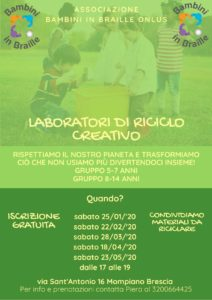Laboratori di riciclo creativo @ Bambini in Braille