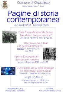 Pagine di storia contemporanea @ Biblioteca di Ospitaletto