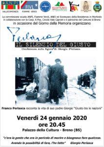Perlasca, il silenzio del giusto @ Palazzo della Cultura Breno
