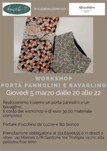 Workshop porta pannolini e bavaglino @ Komorebi