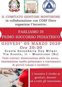 Parliamo di primo soccorso pediatrico a Montirone @ Montirone | Lombardia | Italia