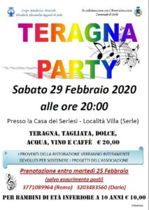 Teragna Party @ Casa dei Serlesi | Serle | Italia