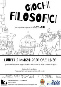 Giochi filosofici @ Biblioteca Civica G. U . Lanfranchi