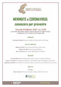 Meningite e Coronavirus: conoscere per prevenire @ Sala assembleare della comunità Montana della Val TRompia