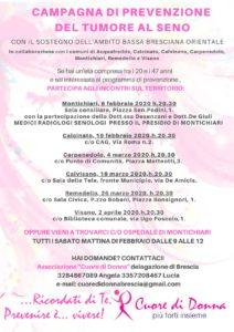 Ricordati di te... Campagna di prevenzione del tumore al seno @ vedi testo