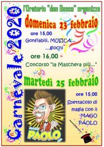 Carnevale a Urago d'Oglio @ Oratorio San Giovanni Bosco