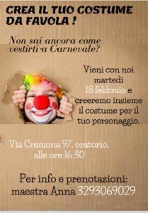 Crea il tuo costume da favola @ Oratorio via Cremona Brescia